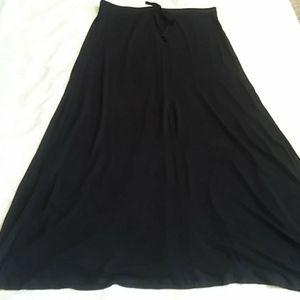 NY&C Black Maxi Skirt Drawstring Size Med